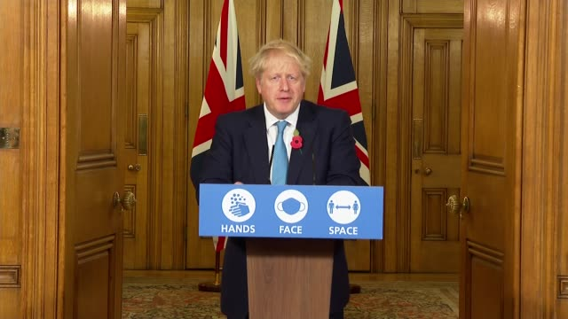 boris johnson downing street press conference november 5th; england: london: westminster: 10 downing street: int press conference part 1 of 10 boris... - respiratory machine stock videos & royalty-free footage