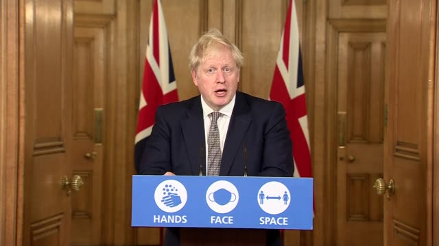 boris johnson downing street press conference october 31st; england: london: westminster: downing street: int press conference part 5 of 10 boris... - illusion stock videos & royalty-free footage