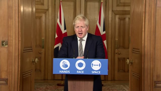 boris johnson downing street press conference october 31st; england: london: westminster: downing street: int press conference part 6 of 10 boris... - press room stock videos & royalty-free footage