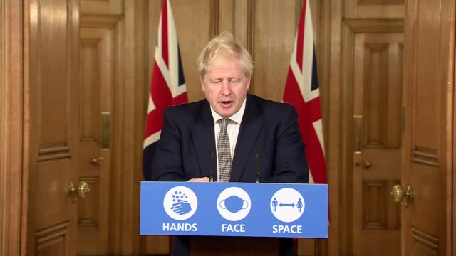 boris johnson downing street press conference october 31st; england: london: westminster: downing street: int press conference part 4 of 10 boris... - downing street stock videos & royalty-free footage