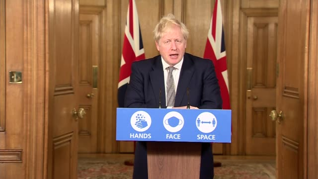 boris johnson downing street press conference october 31st; england: london: westminster: downing street: int press conference part 3 of 10 sir... - press room stock videos & royalty-free footage