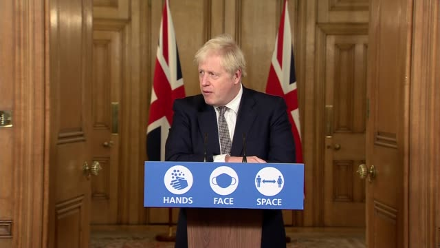 boris johnson downing street press conference october 31st; england: london: westminster: downing street: int press conference part 7 of 10 boris... - press conference stock videos & royalty-free footage
