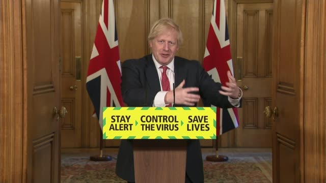 boris johnson gives more details about plans to ease lockdown as critics claim rules are confusing england london 10 downing street int boris johnson... - complexity stock videos & royalty-free footage