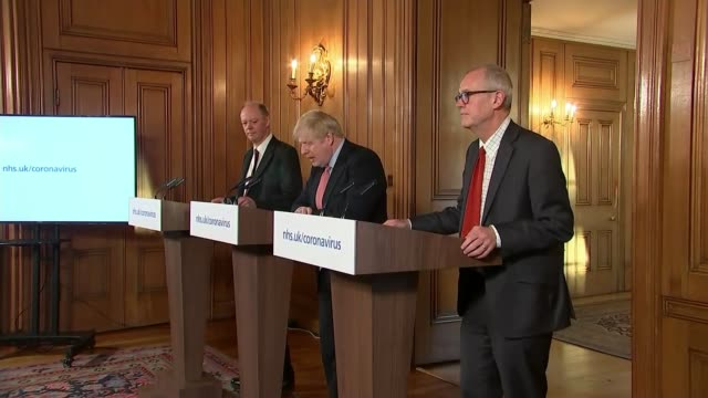 boris johnson moves uk response to delay phase england london downing street number 10 int various of boris johnson mp chris whitty and sir patrick... - love emotion stock videos & royalty-free footage