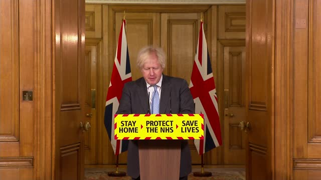 boris johnson optimistic about summer but ministers advise against booking holidays; england: london: westminster: downing street: sir patrick... - boris johnson stock videos & royalty-free footage