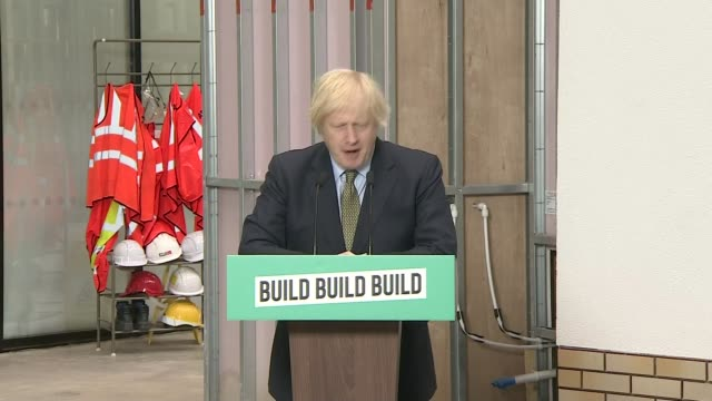 boris johnson pledges to build uk out of the worst economy contraction in decades; england: west midlands: dudley: int boris johnson mp speech sot -... - news event stock videos & royalty-free footage