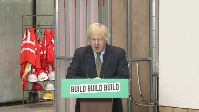 boris johnson pledges to build uk out of the worst economy contraction in decades; england: west midlands: dudley: int cutaways boris johnson... - biological process stock videos & royalty-free footage