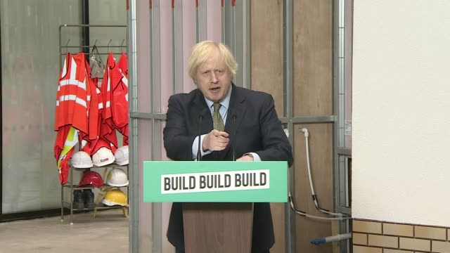 boris johnson pledges to build uk out of the worst economy contraction in decades dudley west midlands uk various shots of boris johnson mp along at... - building activity stock videos & royalty-free footage