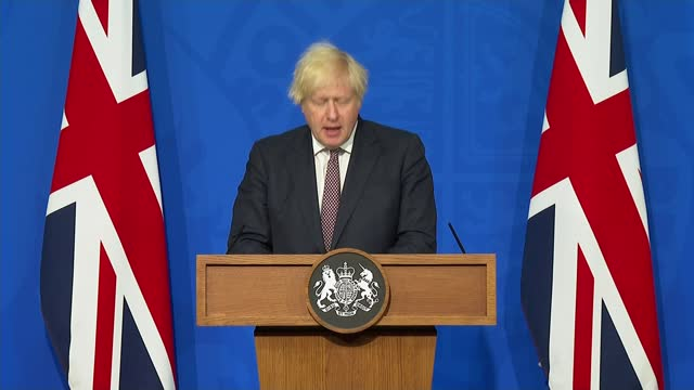 boris johnson says england set to end covid-19 restrictions from july 19th; england: london: downing street: number 9: int boris johnson mp press... - number 9 stock videos & royalty-free footage