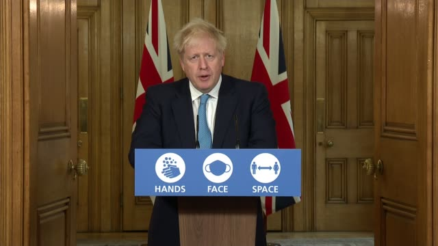 boris johnson threatens to intervene in manchester if no restrictions agreement reached; england: london: westminster: downing street: int boris... - mountain stock videos & royalty-free footage