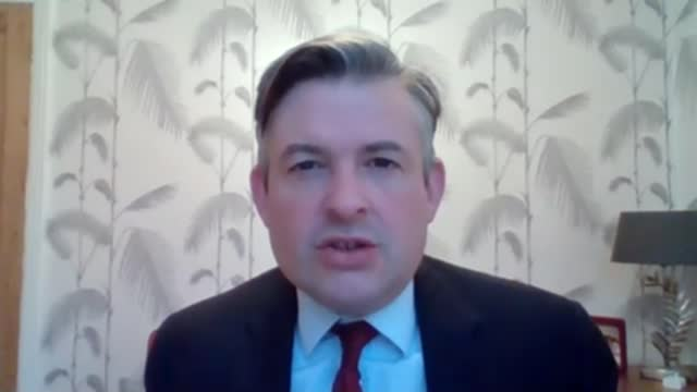 boris johnson under scrutiny from gps over lack of brief for mass vaccinations; england: int jonathan ashworth mp interview excerpt via internet sot. - scrutiny stock videos & royalty-free footage