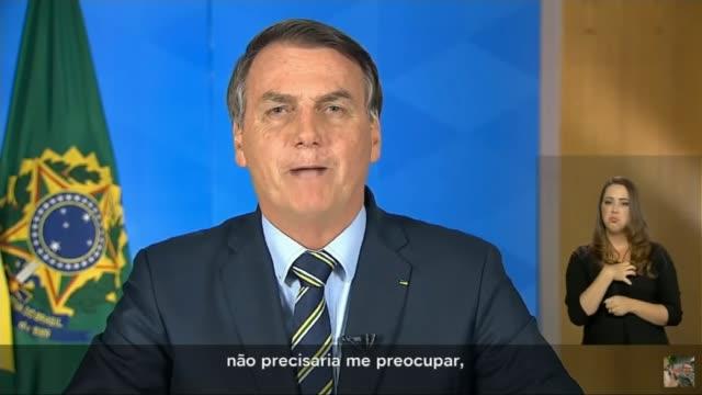 brazilian president jair bolsonaro tests positive; brazil: brasília: int jair bolsonaro statement sot - positive emotion stock videos & royalty-free footage