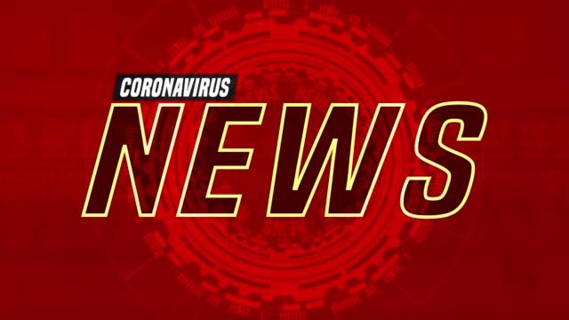 coronavirus breaking news vorlage - nachrichtenredaktion stock-videos und b-roll-filmmaterial