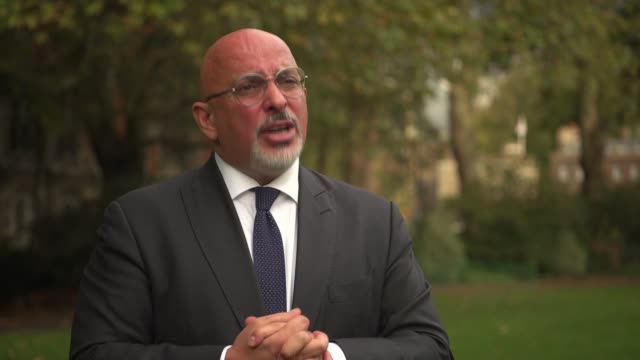 nadhim zahawi interview; england: london: westminster: ext nadhim zahawi interview sot. - q: minister, what are you announcing today? so, what we're... - other stock videos & royalty-free footage