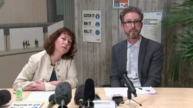 brighton council press conference / gvs gp surgery england east sussex brighton and hove hove town hall int nancy platts and geoff raw press... - east sussex stock videos & royalty-free footage