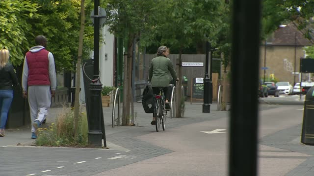 british cities embrace cycling after lockdown; leicester, waltham forest, london, and newcastle, uk; various shots of dr rachel wong along with... - city life stock videos & royalty-free footage