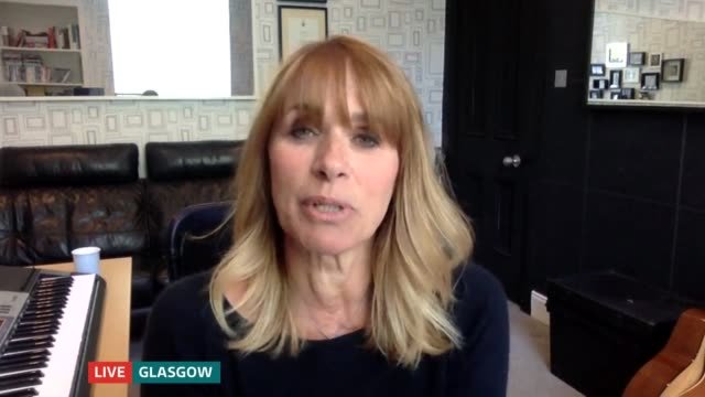 britons take on diy home improvements during lockdown; england: london: gir: int carol smillie 2 way interview from glasgow sot - carol smillie stock videos & royalty-free footage