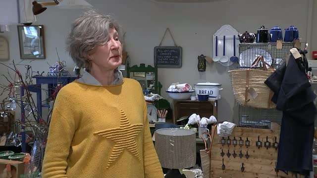 businesses to reopen in steps under government roadmap to end lockdown; england: gloucestershire: cirencester: int reporter to camera sot sarah... - antique stock videos & royalty-free footage