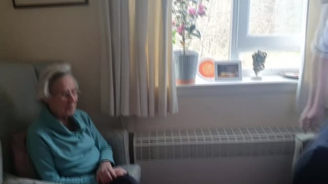 care workers thrust into frontline protecting most vulnerable; uk, renfrewshire; workers and residents in rashielee care home, interviews with... - hungry stock videos & royalty-free footage