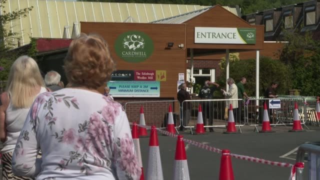 chancellor tells coronavirus briefing uk furlough scheme 'cannot continue indefinitely' uk scotland shoppers at garden centre in gourock as it opens... - furlough stock videos & royalty-free footage