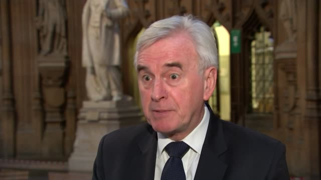 chancellor unveils 350 billion pound lifeline for economy england london westminster int john mcdonnell mp interview sot - john mcdonnell politician videos stock videos & royalty-free footage