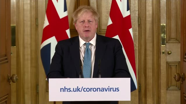 stockvideo's en b-roll-footage met chancellor unveils 350 billion pound lifeline for economy; uk, london, downing street, number 10: boris johnson and rishi sunak press conference.... - war and conflict