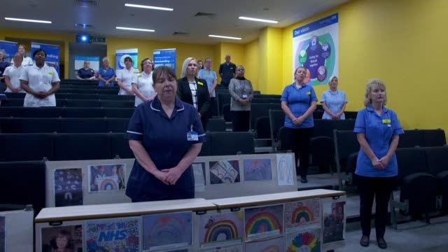 vidéos et rushes de concern about fall in non-coronavirus patients attending hospital: report from walsall manor hospital; england: west midlands: walsall: walsall manor... - choeur