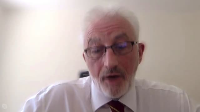 concerns that official death figures do not include all deaths in care homes; united kingdom: int dr mark sanford-wood interview via internet set up... - major road点の映像素材/bロール