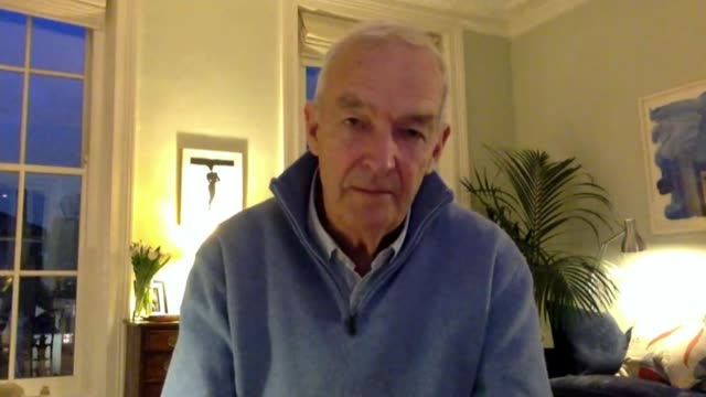 coronavirus continues to spread in a number of countries; england: london: int jon snow 2 way interview from his home sot - re his coronavirus 'self... - report produced segment stock videos & royalty-free footage