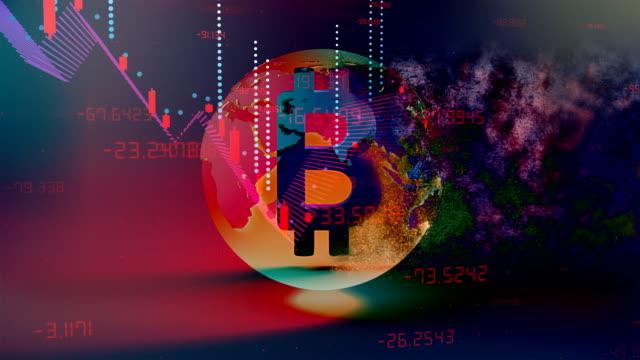 coronavirus covid-19 economic recession bitcoin concept background - loss stock videos & royalty-free footage