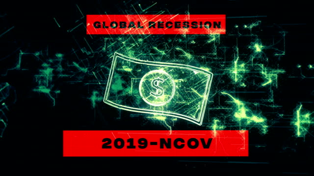 coronavirus covid-19 economic recession concept background - crisis stock videos & royalty-free footage