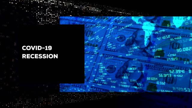coronavirus covid-19 ekonomisk recession koncept bakgrund bakgrund - förlust bildbanksvideor och videomaterial från bakom kulisserna