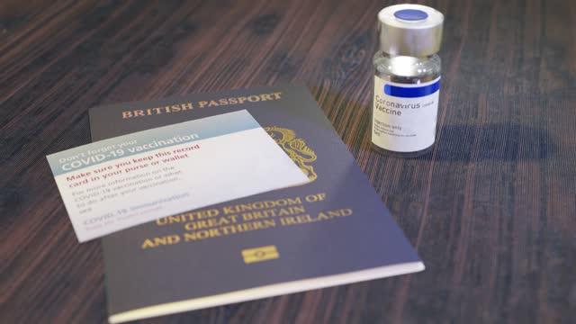coronavirus covid-19 vaccine immunity passport italy - living organism stock videos & royalty-free footage