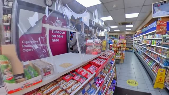 death of shopkeeper in south london raises concerns about protection for independent stores during pandemic england london int ali jib restocking... - customised stock videos & royalty-free footage