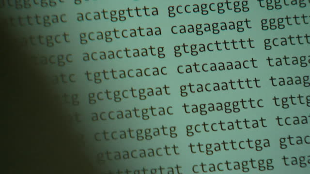 coronavirus dna on computer screen in laboratory in cambridge, which will help with finding a vaccine - genetic research stock videos & royalty-free footage