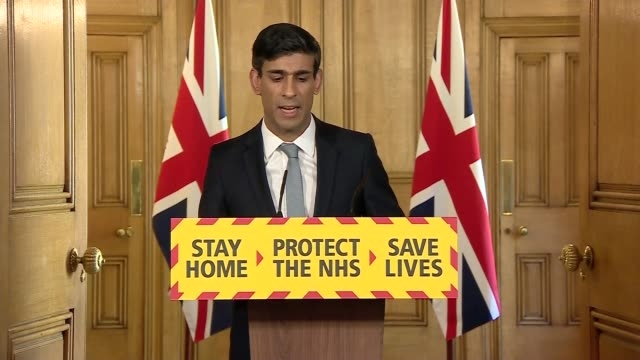 donwing street press conference april 20th england london westminster downing street int press conference part 2 of 10 rishi sunak mp statement sot... - convertible stock videos & royalty-free footage