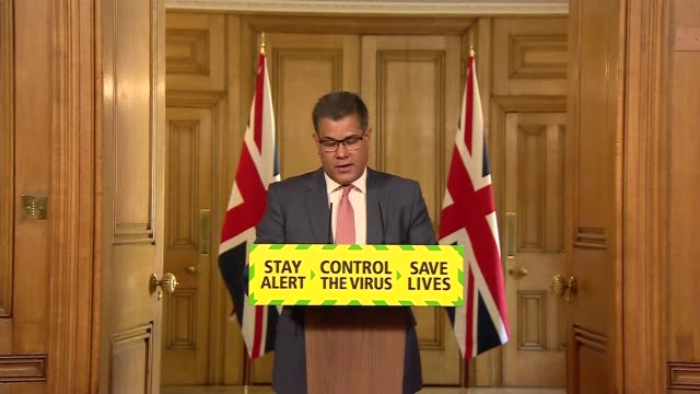 downing street daily press conference may 12th england london westminster downing street int press conference part 2 of 11 alok sharma mp statement... - leisure facilities stock videos & royalty-free footage