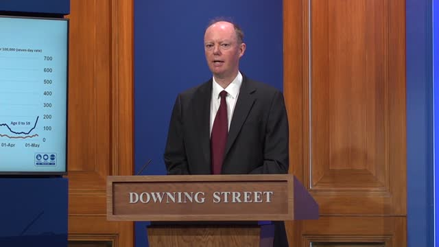 downing street press conference 14th may 2021; press conference part 3 of 10 england: london: westminster: downing street: int professor chris whitty... - curve stock videos & royalty-free footage