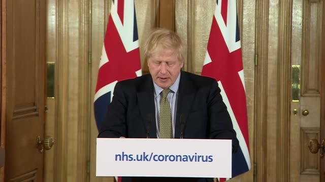 downing street press conference 18th march; england: london: westminster: downing street: int downing street press conference part 2 of 8 boris... - curve stock videos & royalty-free footage