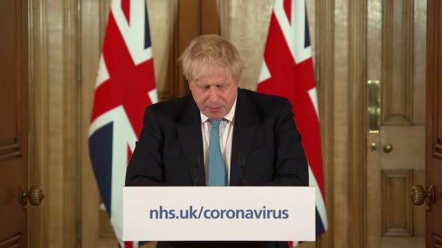 downing street press conference 19th march england london westminster int downing street press conference part 2 of 8 boris johnson mp statement sot... - hand stock videos & royalty-free footage