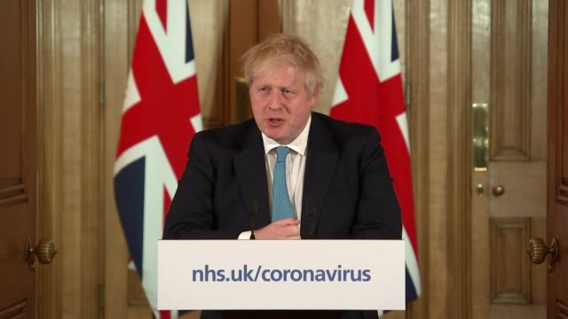 downing street press conference 19th march; england: london: westminster: int downing street press conference part 1 of 8 boris johnson mp ,... - genetic research stock videos & royalty-free footage