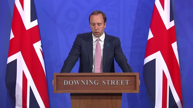 downing street press conference 19th may 2021; press conference part 3 of 12 england: london: westminster: downing street: int matt hancock mp... - particle stock videos & royalty-free footage