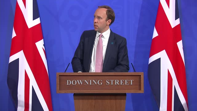 downing street press conference 19th may 2021; press conference part 2 of 13 england: london: westminster: downing street: int matt hancock mp... - percentage sign stock videos & royalty-free footage