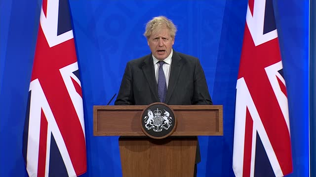 downing street press conference 20th april 2021; part 4 of 8 england: london: westminster: downing street: number 9: int boris johnson mp and nikki... - number 9 stock videos & royalty-free footage