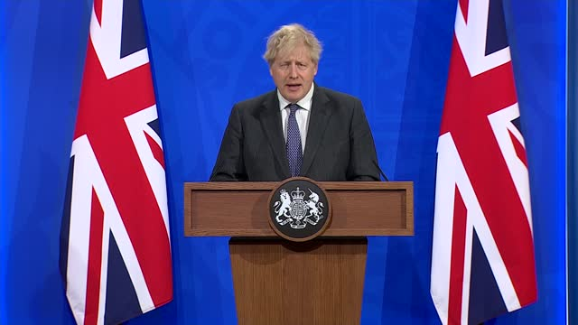 downing street press conference 20th april 2021; part 5 of 8 england: london: westminster: downing street: number 9: int boris johnson mp and nikki... - number 9 stock videos & royalty-free footage