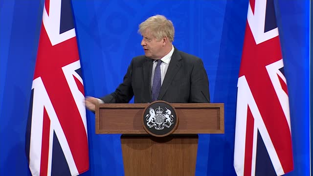 downing street press conference 20th april 2021; part 7 of 8 england: london: westminster: downing street: number 9: int boris johnson mp and nikki... - number 9 stock videos & royalty-free footage