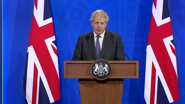 downing street press conference 20th april 2021; part 8 of 8 england: london: westminster: downing street: number 9: int boris johnson mp and nikki... - number 9 stock videos & royalty-free footage