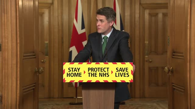 downing street press conference 24th february 2021; press conference part 11 of 11 england: london: westminster: downing street: int gavin williamson... - adjusting stock videos & royalty-free footage