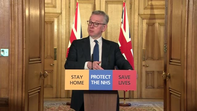 downing street press conference 27th march clip 7 of 8 england london downing street number 10 int michael gove mp sir simon stevens and dr jenny... - politics stock videos & royalty-free footage