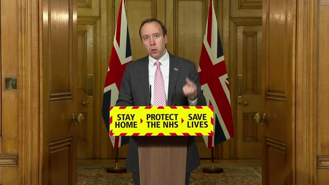 downing street press conference 8th february 2021; press conference part 3 of 12 england: london: westminster: downing street: int matt hancock mp... - rna virus stock videos & royalty-free footage
